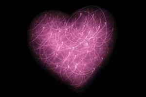 A glowing, expansive, connected heart